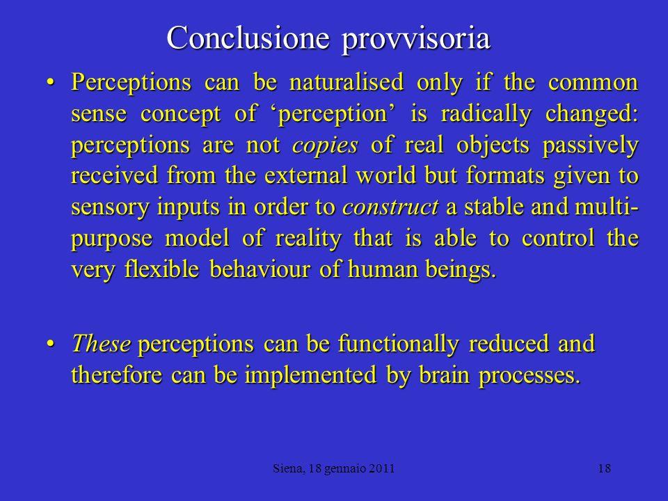 Conclusione provvisoria