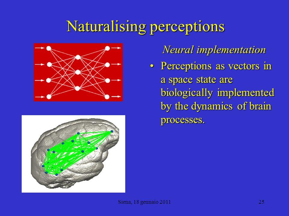 Naturalising perceptions