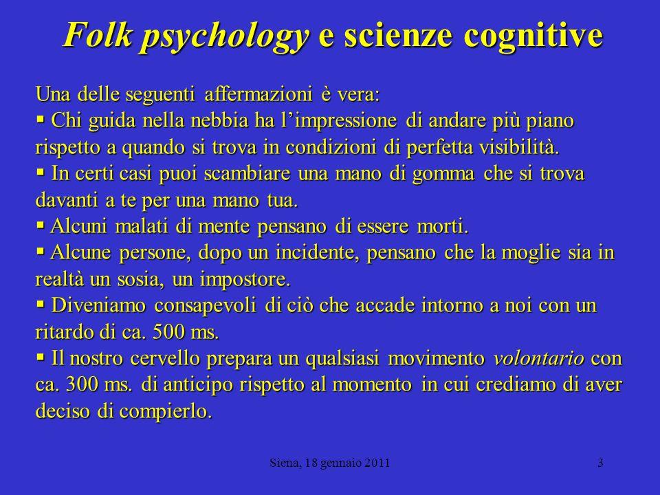 Folk psychology e scienze cognitive