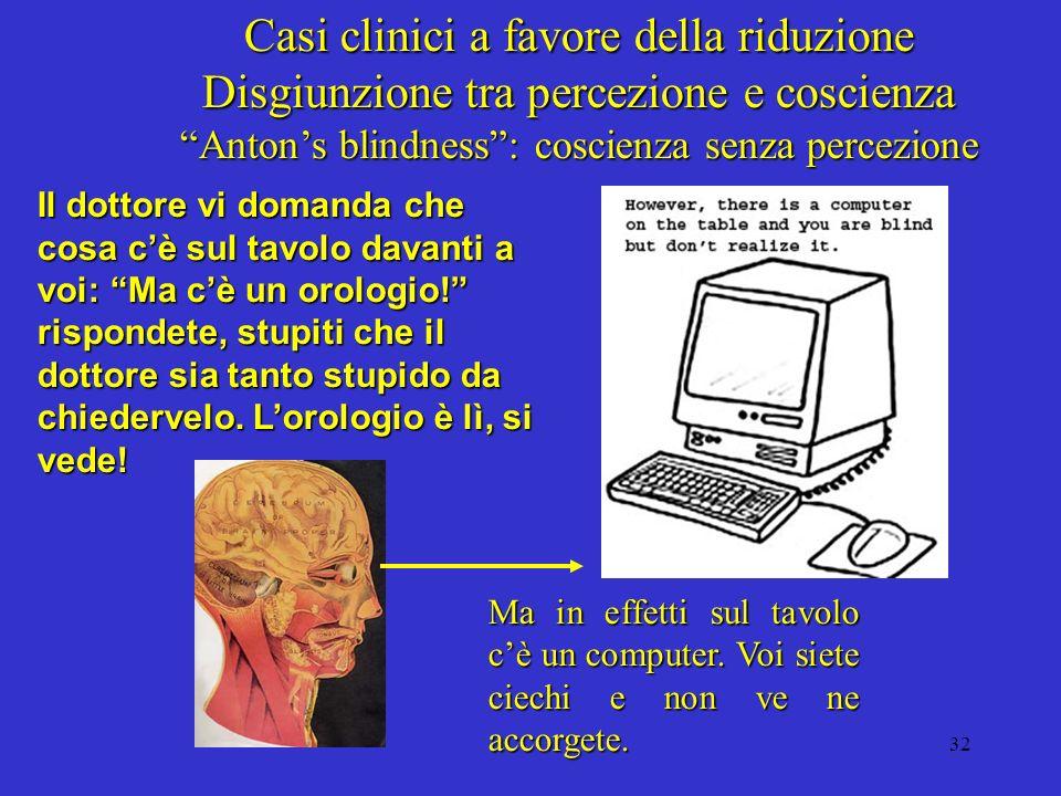 Anton's blindness : coscienza senza percezione