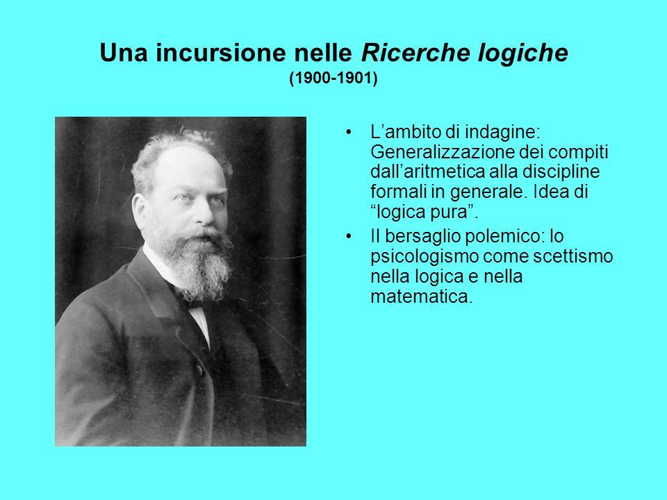 Una incursione nelle Ricerche logiche (1900-1901)