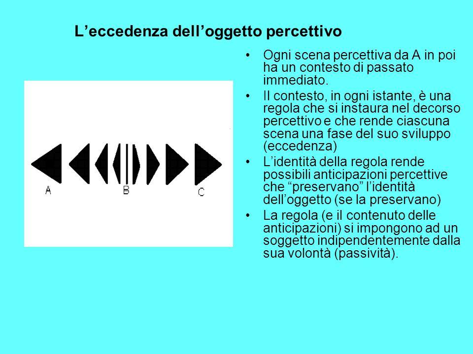 L'eccedenza dell'oggetto percettivo