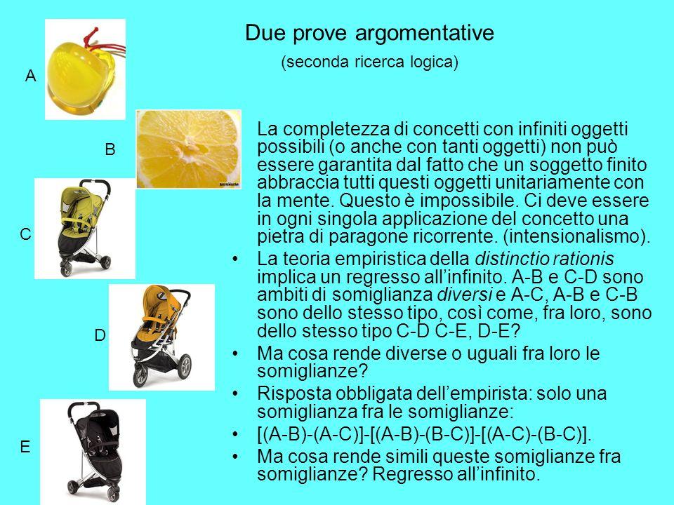 Due prove argomentative (seconda ricerca logica)