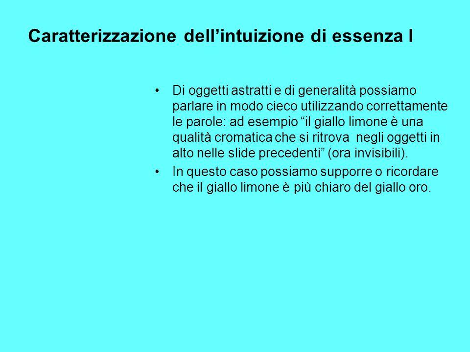 Caratterizzazione dell'intuizione di essenza I