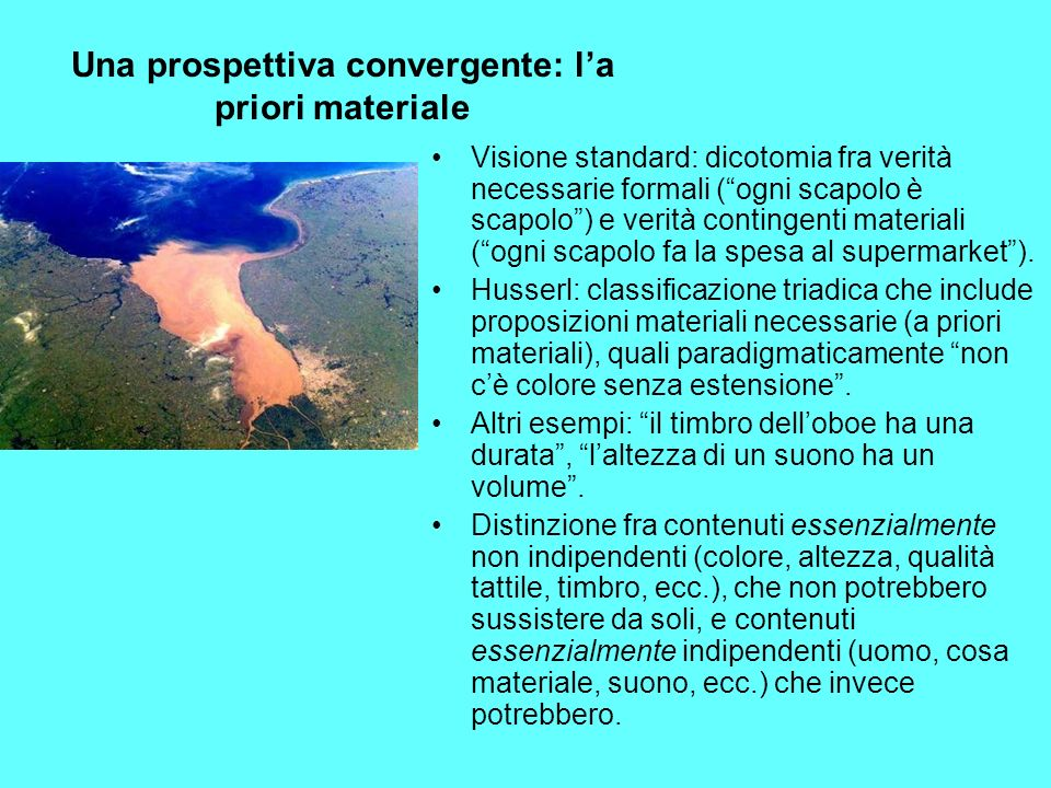 Una prospettiva convergente: l'a priori materiale