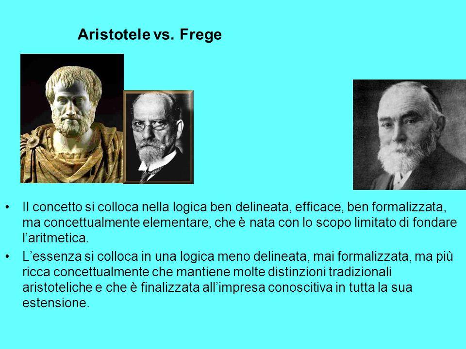 Aristotele vs. Frege