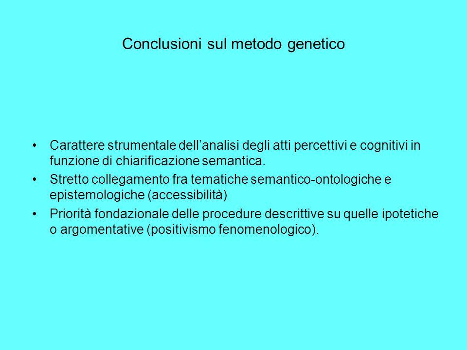 Conclusioni sul metodo genetico