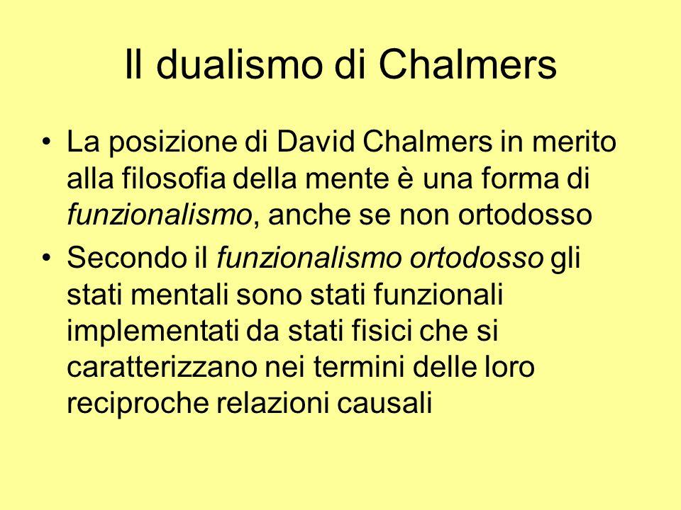 Il dualismo di Chalmers