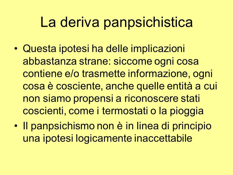 La deriva panpsichistica