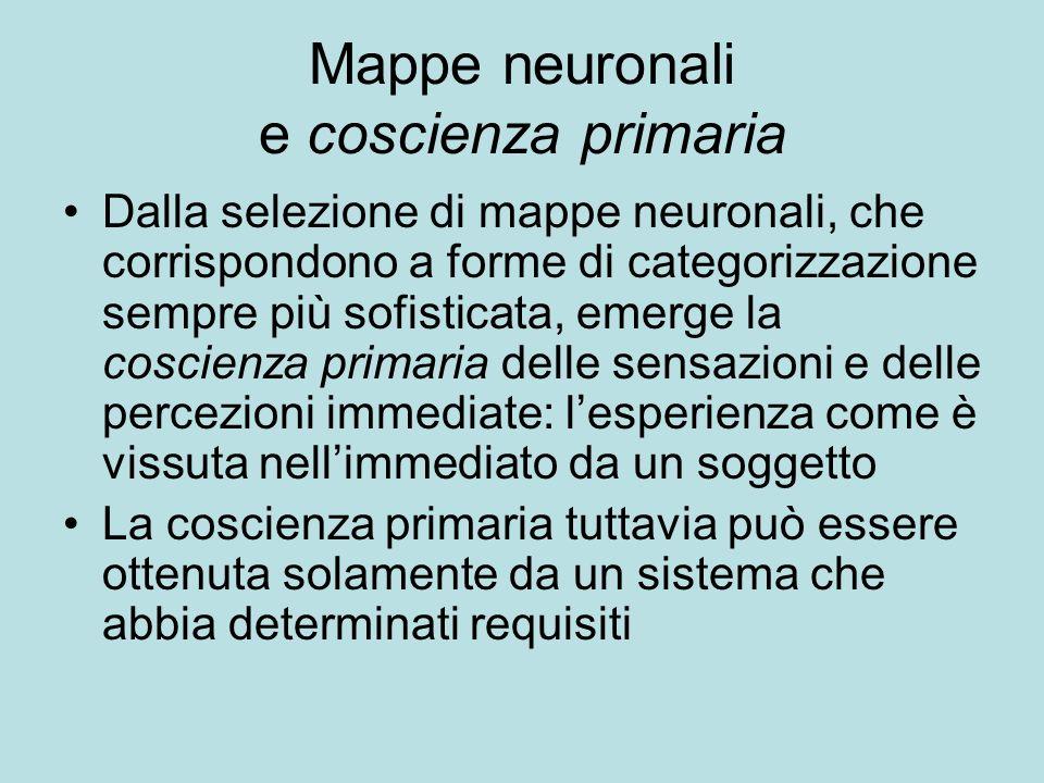 Mappe neuronali e coscienza primaria