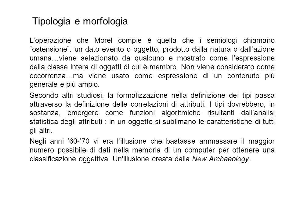 Tipologia e morfologia