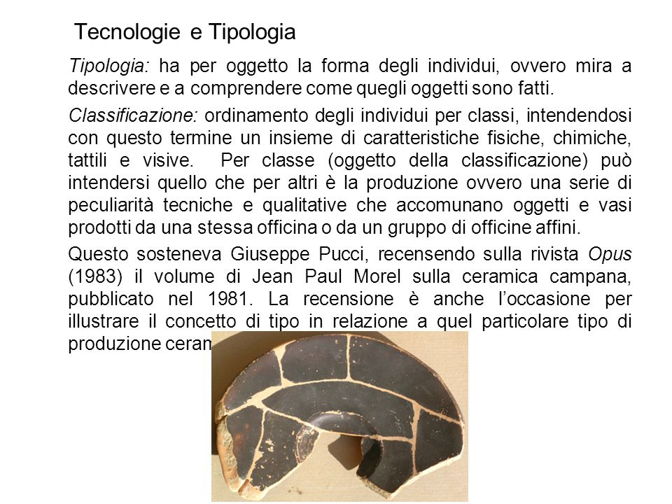 Tecnologie e Tipologia