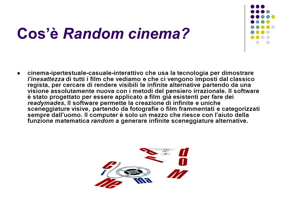 Cos'è Random cinema
