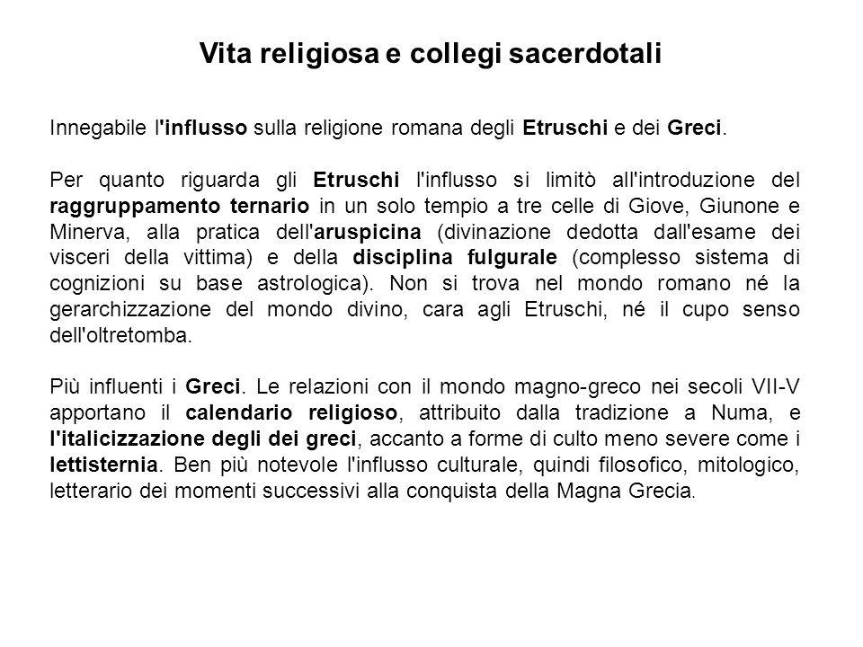 Vita religiosa e collegi sacerdotali