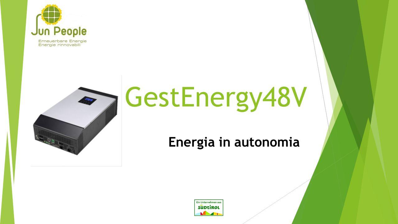 GestEnergy48V Energia in autonomia
