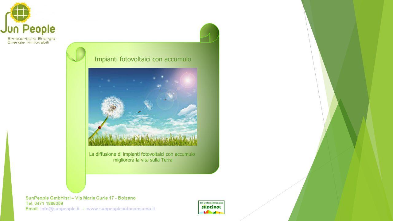 SunPeople GmbH/srl – Via Marie Curie 17 - Bolzano