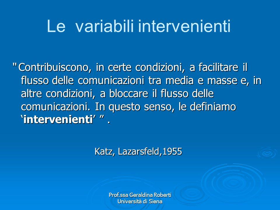Le variabili intervenienti
