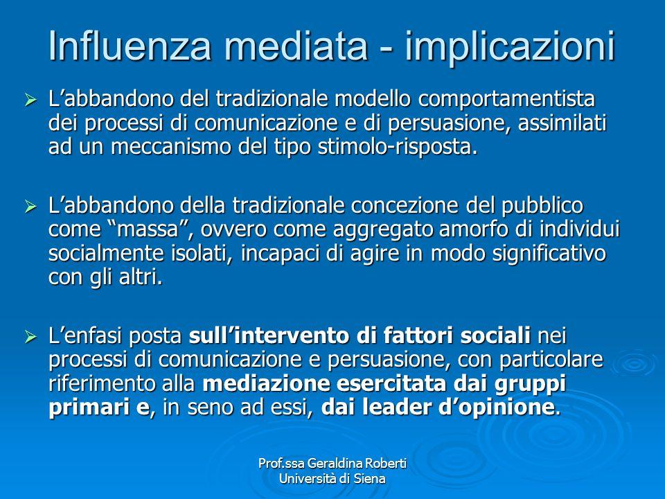 Influenza mediata - implicazioni