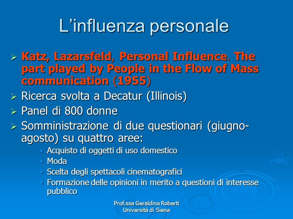 L'influenza personale