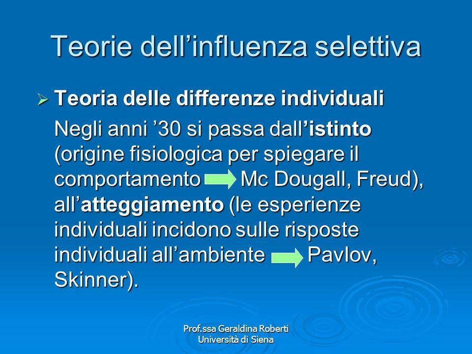 Teorie dell'influenza selettiva