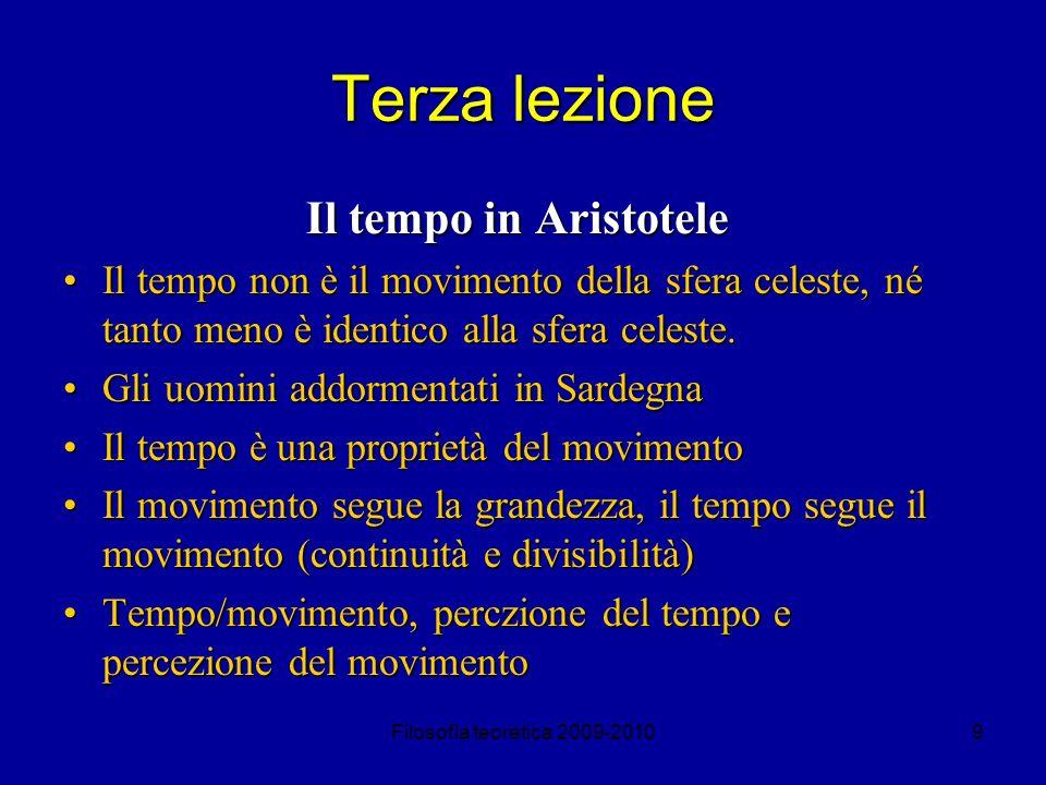 Terza lezione Il tempo in Aristotele