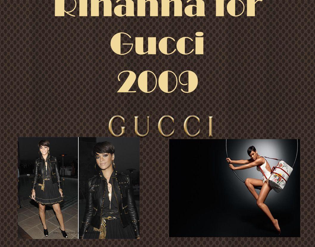 Pubblicità storica della casa di moda di Guccio Gucci