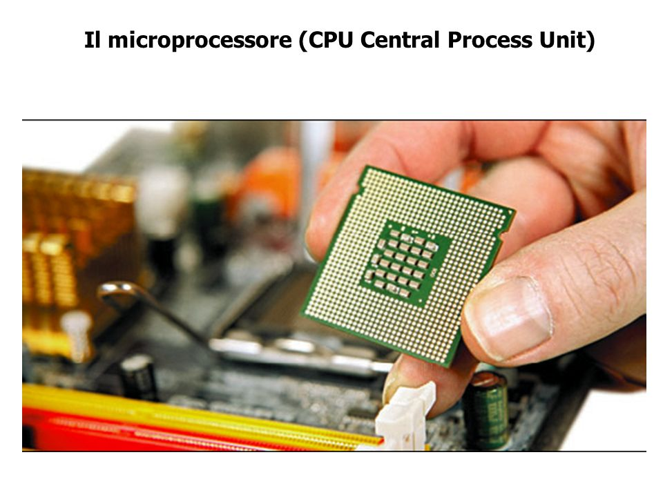Il microprocessore (CPU Central Process Unit)