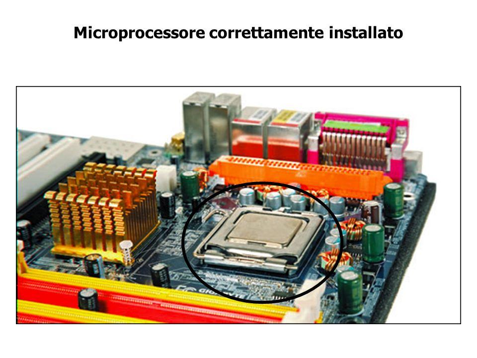 Microprocessore correttamente installato