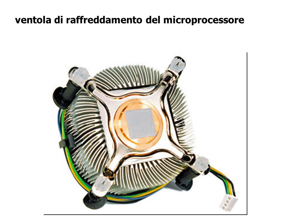 ventola di raffreddamento del microprocessore