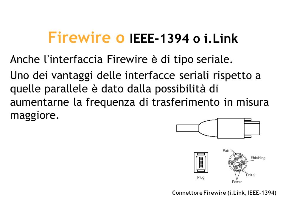 Firewire o IEEE-1394 o i.Link
