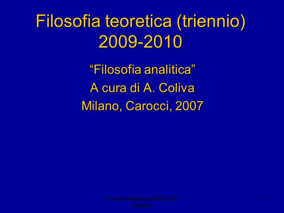 Filosofia teoretica (triennio) 2009-2010