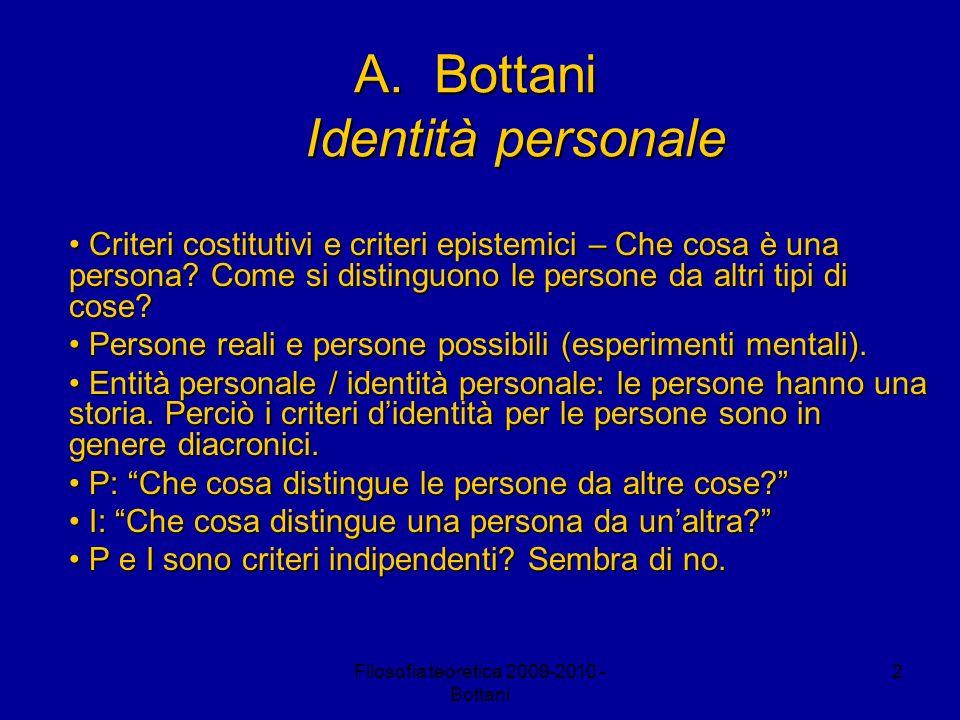 Bottani Identità personale