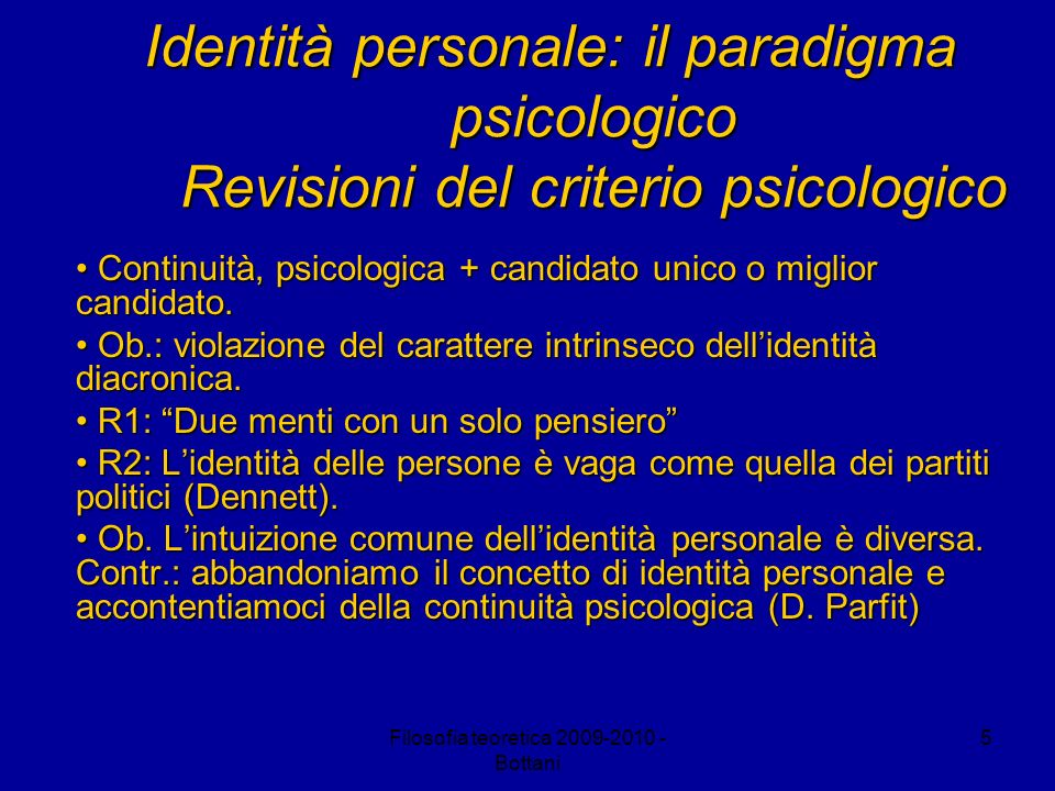 Filosofia teoretica 2009-2010 - Bottani