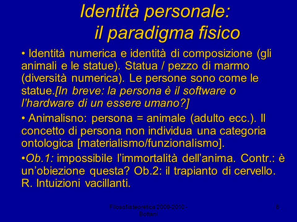Identità personale: il paradigma fisico