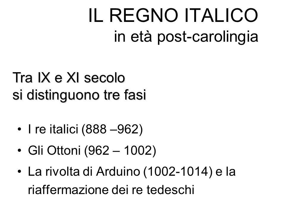 IL REGNO ITALICO in età post-carolingia