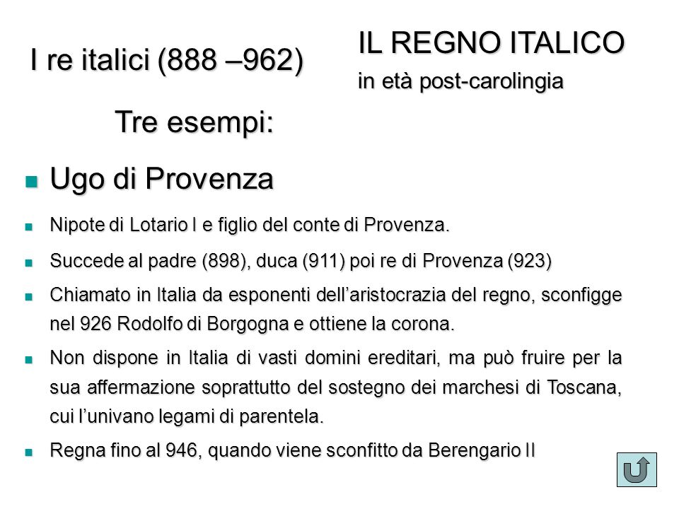 I re italici Ugo di Provenza