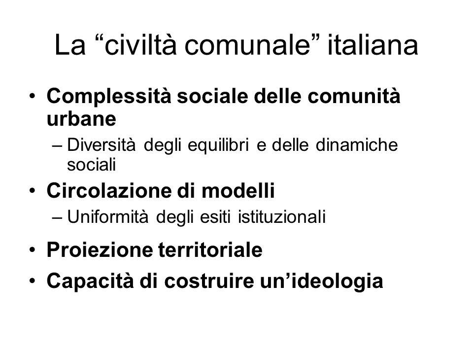 La civiltà comunale italiana