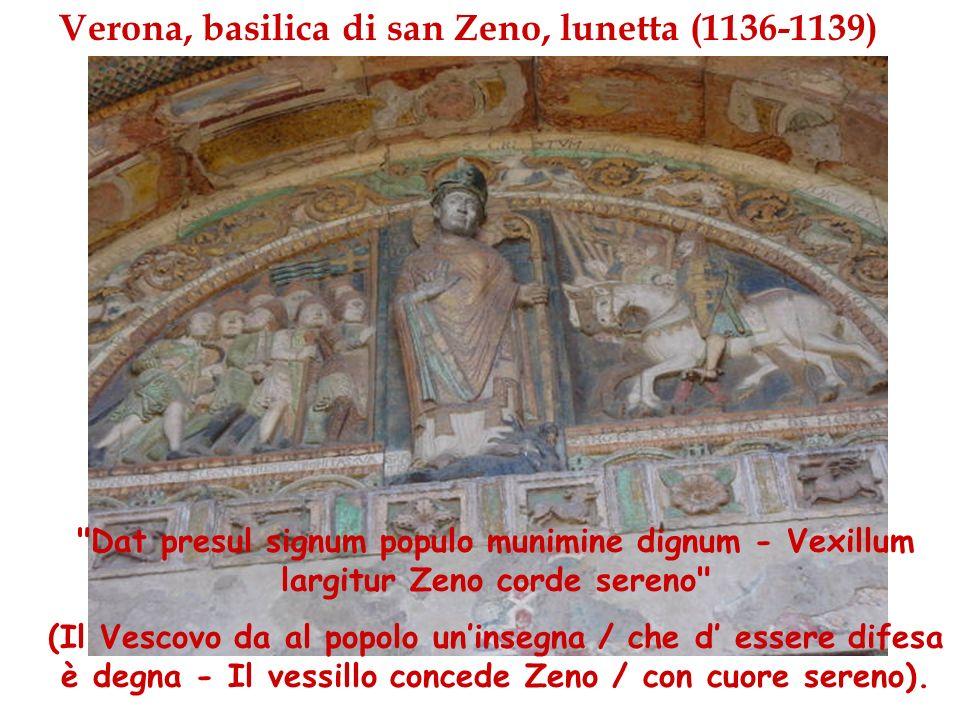 Verona, basilica di san Zeno, lunetta (1136-1139)