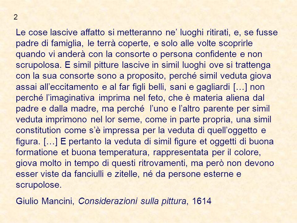 Giulio Mancini, Considerazioni sulla pittura, 1614