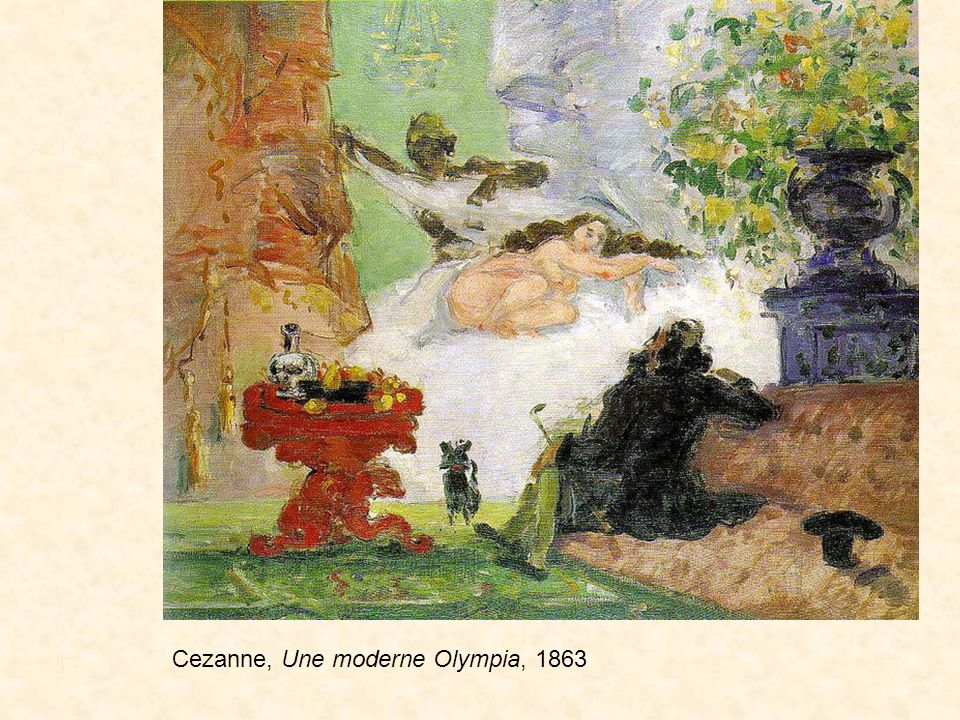 Cezanne, Une moderne Olympia, 1863