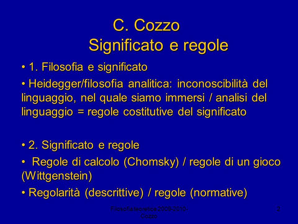 C. Cozzo Significato e regole
