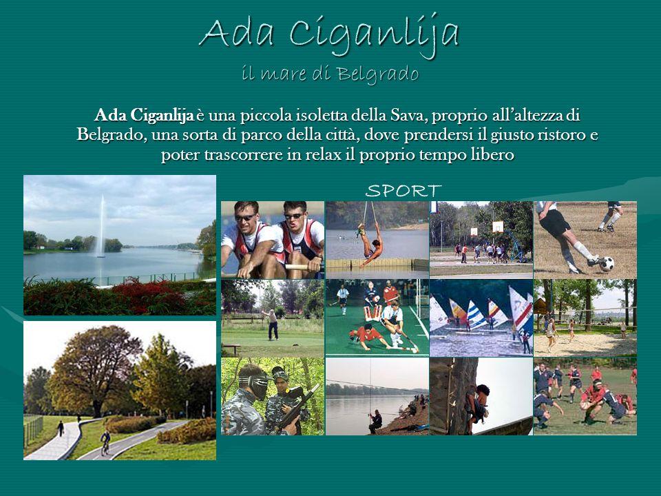 Ada Ciganlija il mare di Belgrado