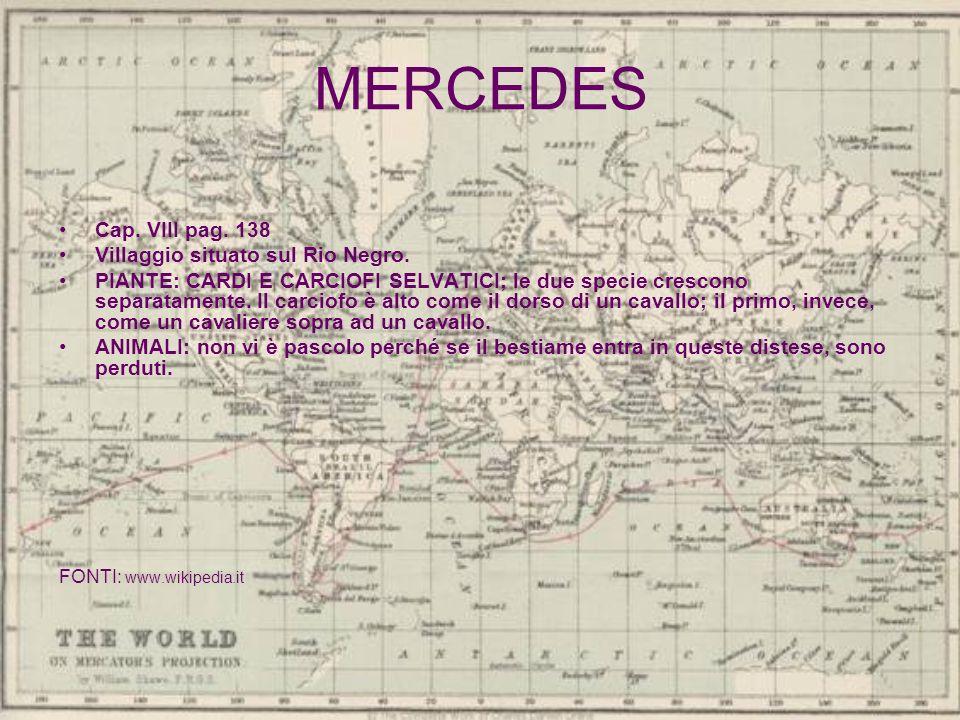 MERCEDES Cap. VIII pag. 138 Villaggio situato sul Rio Negro.