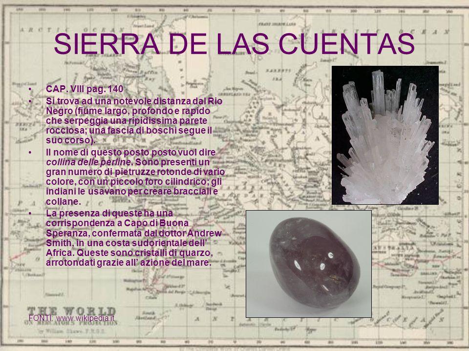 SIERRA DE LAS CUENTAS CAP. VIII pag. 140
