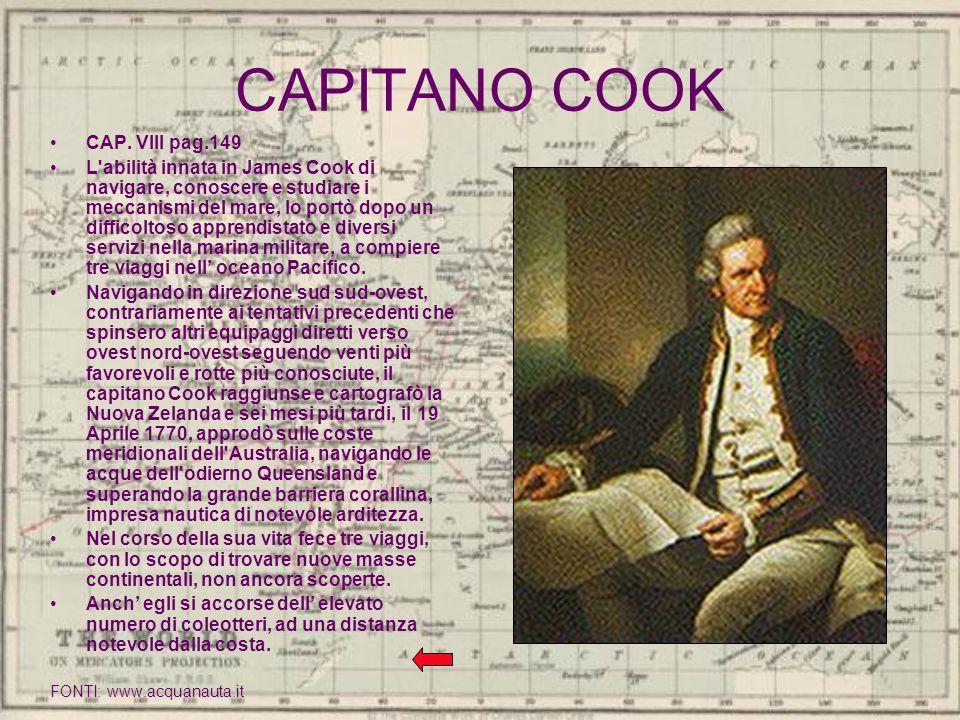 CAPITANO COOK CAP. VIII pag.149
