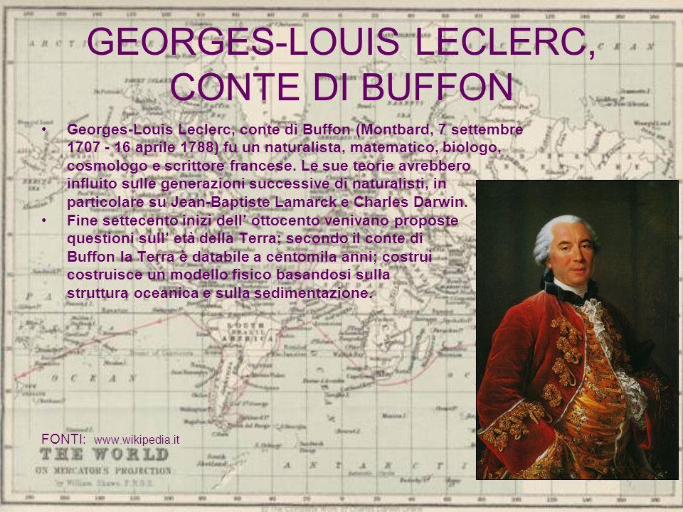 GEORGES-LOUIS LECLERC, CONTE DI BUFFON