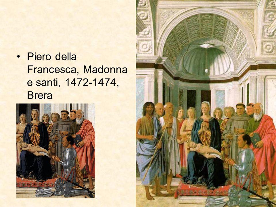 Piero della Francesca, Madonna e santi, 1472-1474, Brera