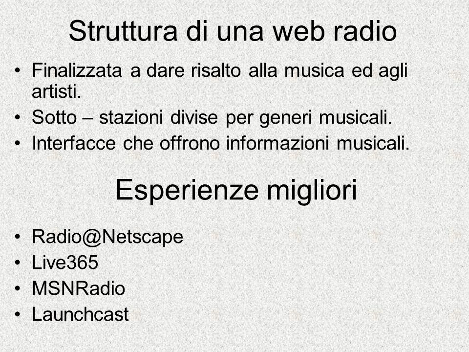 Struttura di una web radio