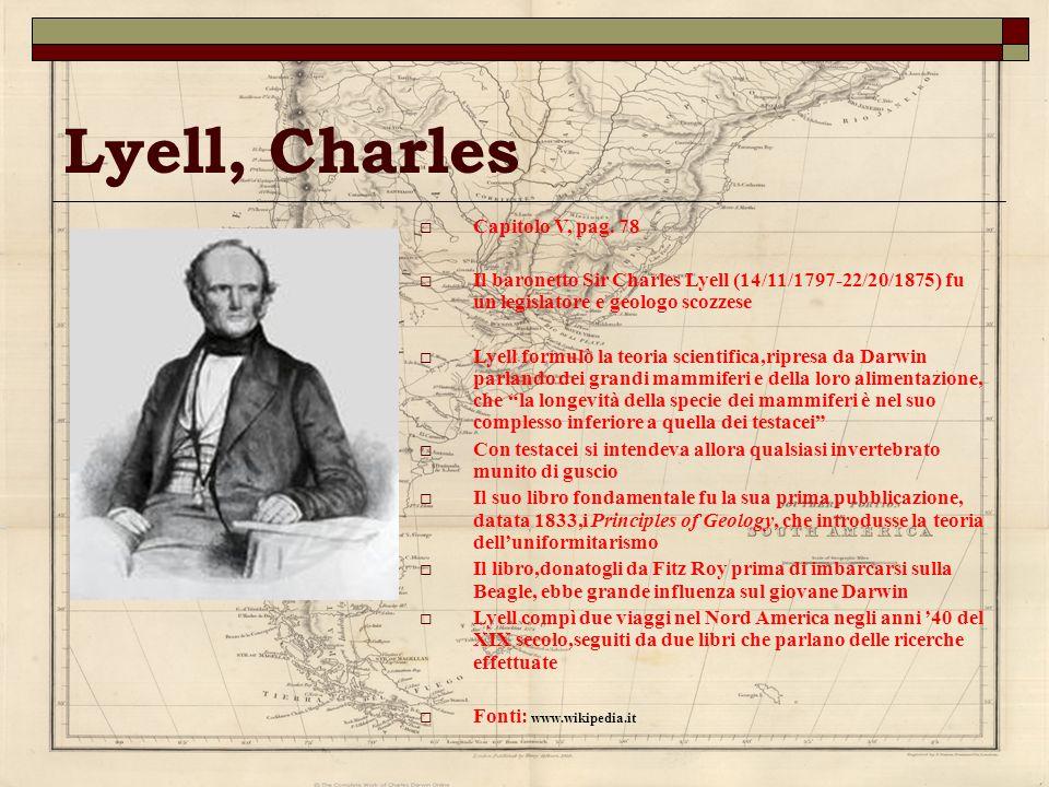 Lyell, Charles Capitolo V, pag. 78