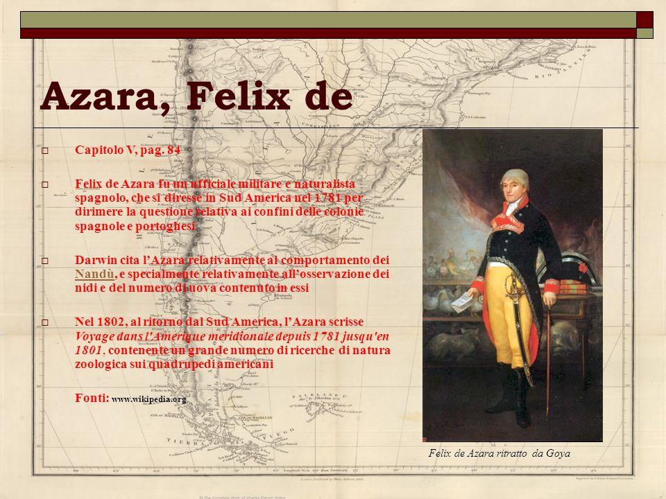 Azara, Felix de Capitolo V, pag. 84